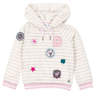 Girls' [3-6] Embroidered Plush Hoodie