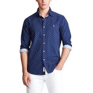 Men's Classic Fit Anchor Print Shirt