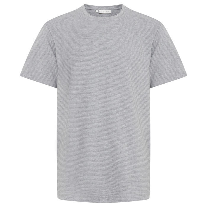 T-shirt à col rond côtelé pour hommes