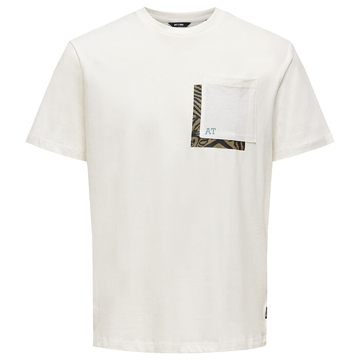 Men's Contrast Graphic Pocket T-Shirt