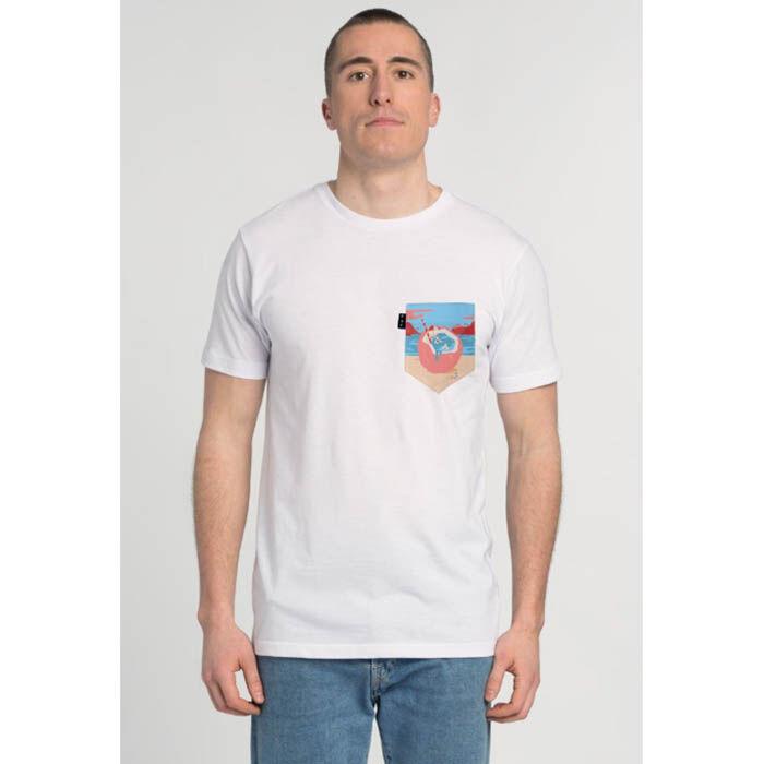 T-shirt à motif de plage pour hommes