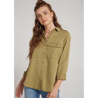 Women's Patch Pocket Utility Button-Down Shirt