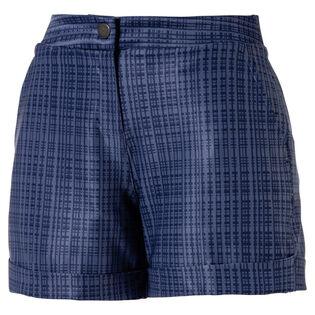 Women's Soft Plaid Golf Short