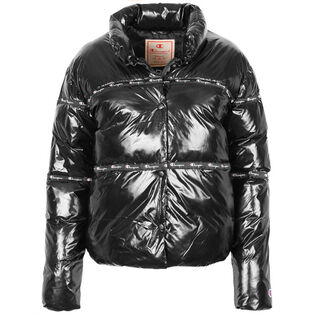 Women's High Shine Cropped Puffer Jacket