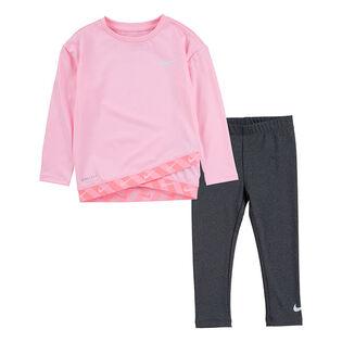 Ensemble tunique + legging Dri-FIT® Taping pour filles [2-4T]