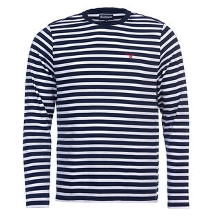 Men's Bow Striped Long Sleeve T-Shirt