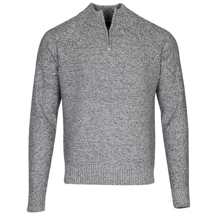 Men's Melange Quarter-Zip Sweater