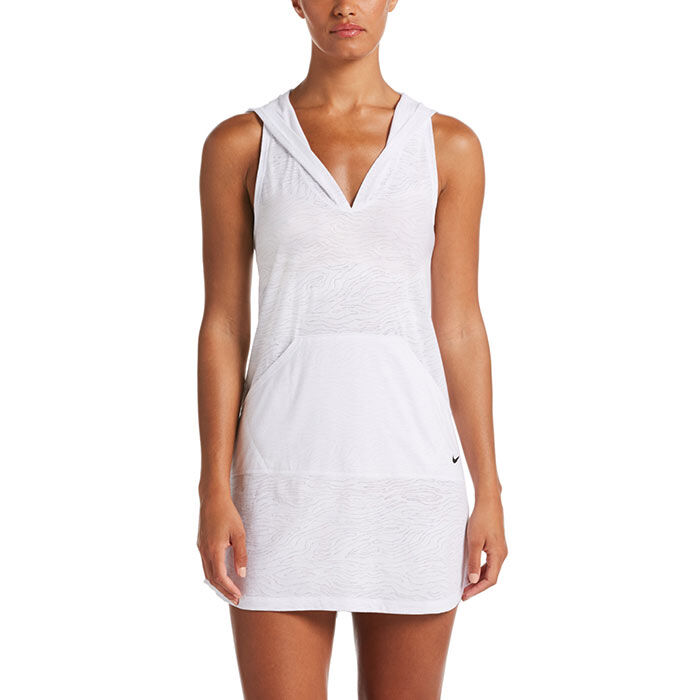 Women's Geo Cover-Up Hooded Dress