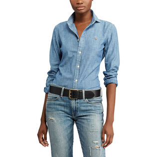 Women's Slim Fit Chambray Shirt