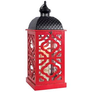 Lattice Wood Lantern