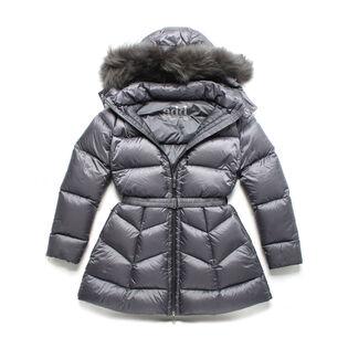 Junior Girls' Belted Down Coat