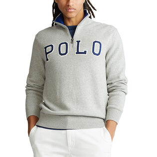 Men's Polo Logo Half-Zip Sweater