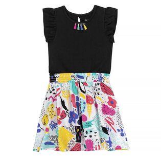 Girls' [3-6] Artist Print Dress