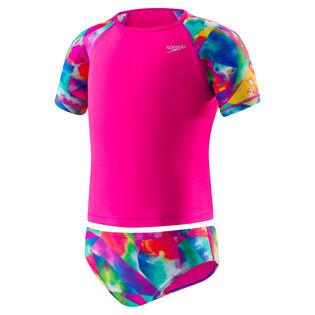 Baby Girls' [12-24M] Printed Rashguard Two-Piece Swimsuit