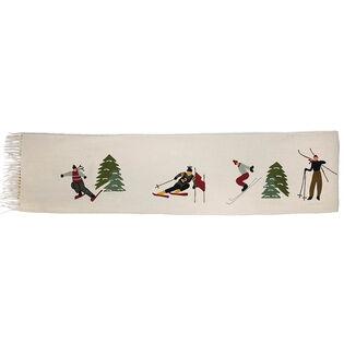 Ski Wool Throw Blanket