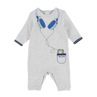 Baby Boys' [3-9M] Headphones Print One-Piece Jumpsuit