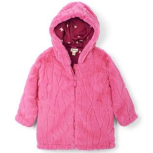 Girls' [2-6] Twinkle Stars Faux Fur Jacket