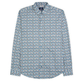 Men's Oxford Retro Print Shirt