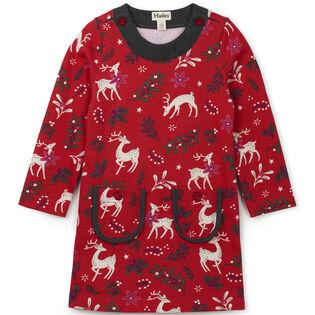 Girls' [2-6] Mistletoe Deer Mod Dress
