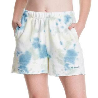 Women's Sunwash Dye Lightweight Fleece Boyfriend Short