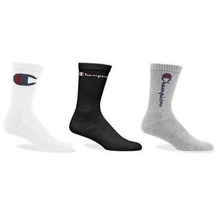Unisex Multi Logo Crew Sock (3 Pack)