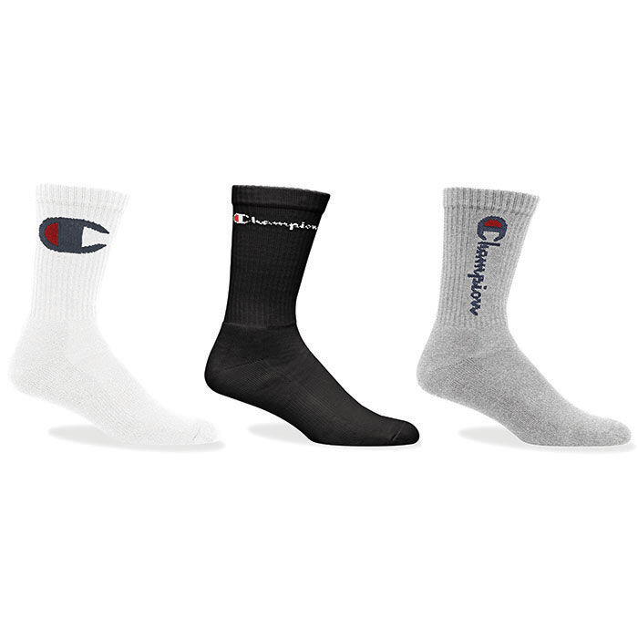 Unisex Multi Logo Crew Sock (3 Pack)