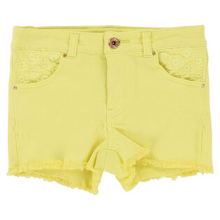 Girls' [2-6] Embroidered Twill Short