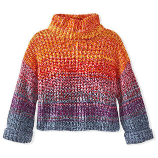 Women's Rainbow Marl Turtleneck Sweater