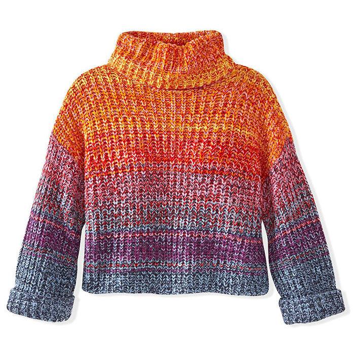 Women's Rainbow Marl Turtleneck Sweater