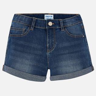 Junior Girls' [8-16] Basic Denim Short