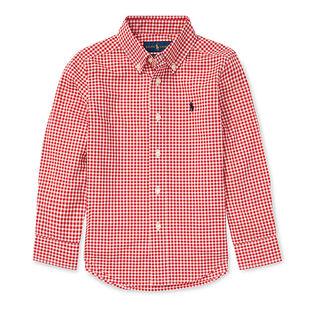 Boys' [2-4] Gingham Cotton Poplin Shirt