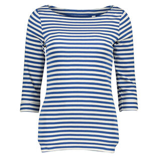 Women's Striped Three-Quarter Top