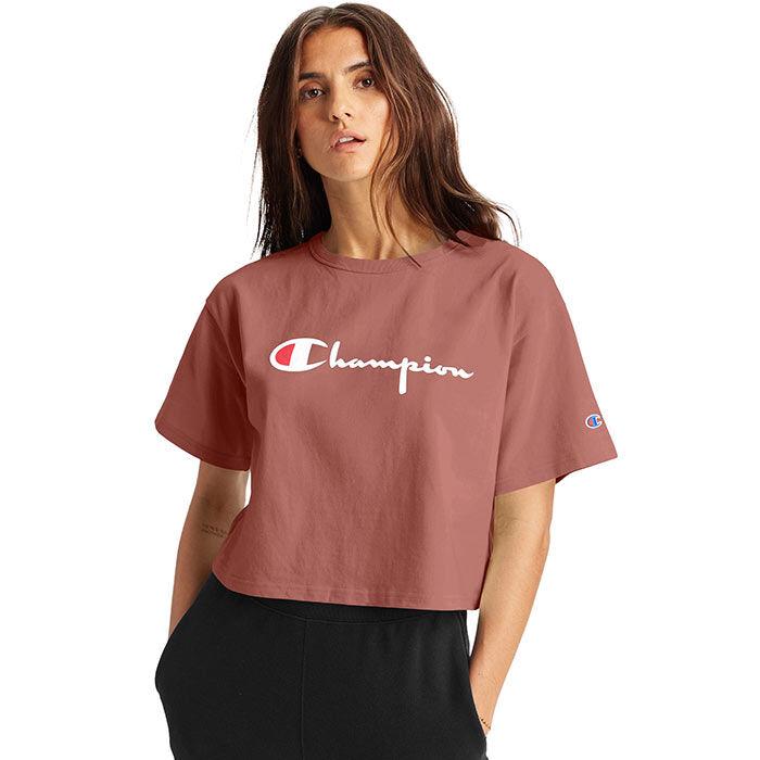 T-shirt court à grand logo pour femmes