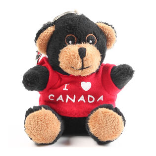"Black Bear Canada 4"" Plush Keychain"