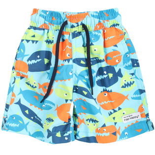 Baby Boys' [6-18] Printed Boardshort