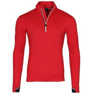 Men's Zipped Mock Neck Top