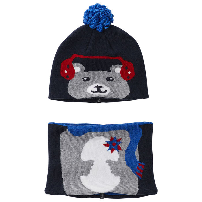 Kids' Snow More™ Beanie + Gatier Two-Piece Set