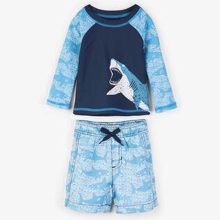 Baby Boys' [6-24M] Shark Alley Two-Piece Rashguard Set