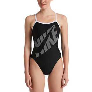 Women's Tilt Logo Racerback One-Piece Swimsuit