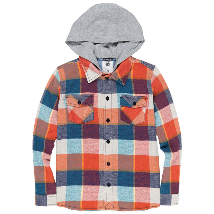 Junior Boys' [8-16] Tacoma Hooded Flannel Shirt