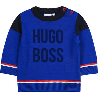 Boys' [3M-3Y] Logo Knit Sweater