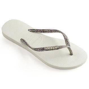 Women's Slim Logo Metallic Flip Flop Sandal