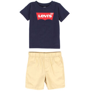 Baby Boys' [12-24M] Batwing Tee + Short Two-Piece Set