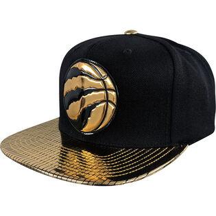 Casquette snapback Toronto Raptors Gold Standard pour hommes