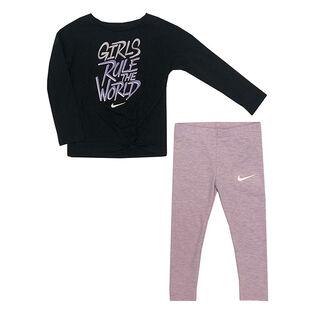 Ensemble tunique + legging Graphic One Luxe pour filles [2-4T]