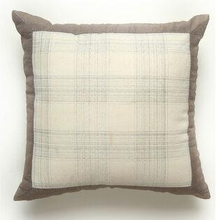 Metallic Plaid Pillow