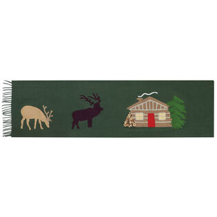 Hunting Cabin Wool Throw Blanket