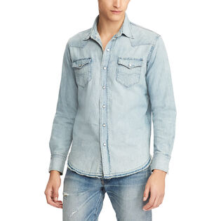 Men's Classic Fit Cotton Denim Shirt