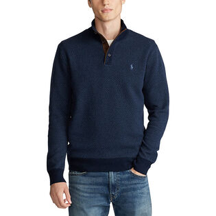 Men's Merino Wool Mock Neck Sweater