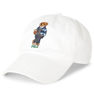 Unisex Preppy Bear Chino Cap